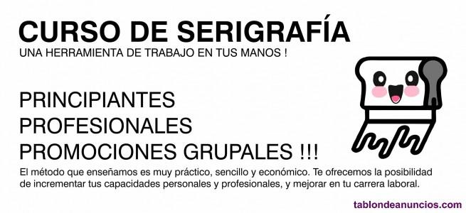 Curso taller de serigrafía artesanal bcn