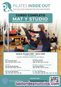 Curso instructor método pilates (450h) chiclana-cadiz mayo 2018