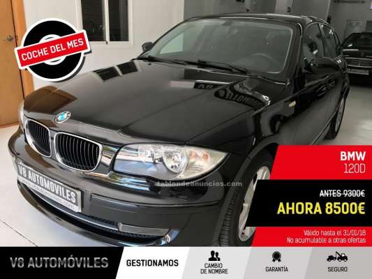 tabl n de anuncios bmw series 1 120d 177cv 5p del 2007 coches segunda mano. Black Bedroom Furniture Sets. Home Design Ideas