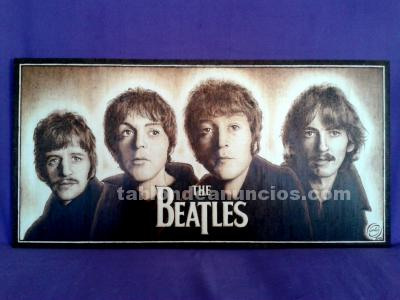 The beatles - cuadro pirografiado - pyrography