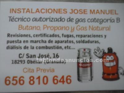 INSTALADOR DE GAS Y FONTANERIA