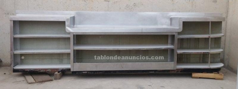 Mueble bar inox 450cm