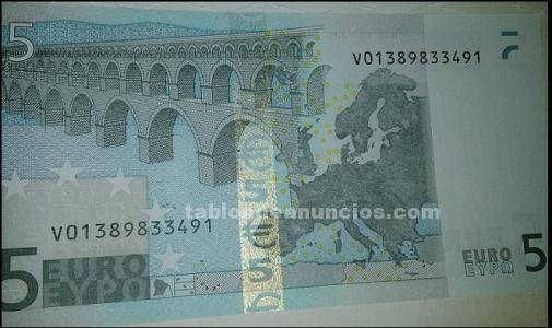 BILLETE DE 5 EUROS SERIE V