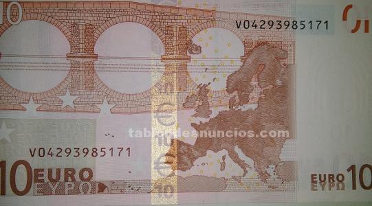 Billete de 10 euros serie v
