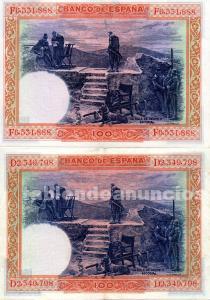 Billetes de 100 pesetas felipe ii