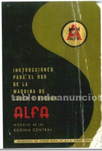 Manual máquina de coser modelo alfa 40 (b)