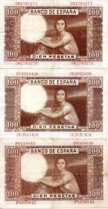 Billetes de 100 pesetas julio romero