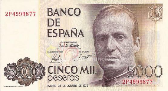 Billete de 5.000 pesetas juan carlols i