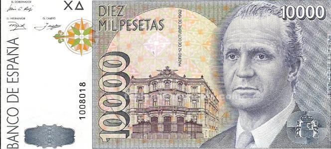 BILLETE DE 10.000 PESETAS s/s s/c
