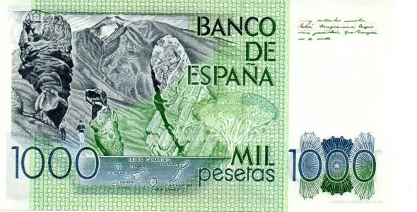 Billetes de 1000 pesetas perez galdos