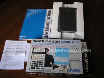 Fc-100 casio calculadora financiera antigua fc-100 fc100 funcionando finan