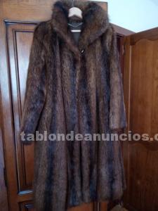 Un abrigo piel lomos de nutria