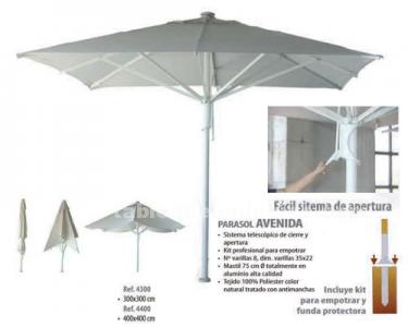 Parasoles y cortinas bar
