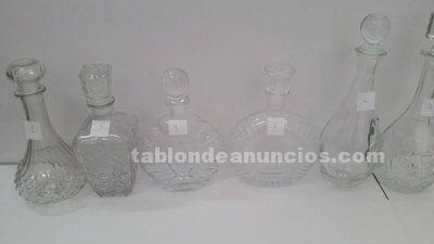 Botellas decorativas de cristal