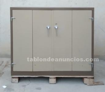 Armario metálico marrón 120x45x110cm