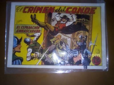 Comic titulado el crimen del conde