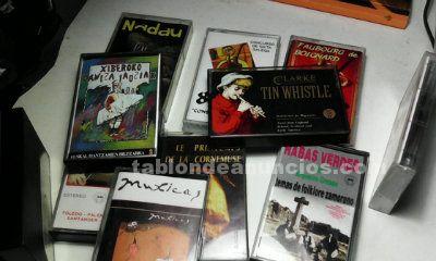 Cassettes música folk y celta