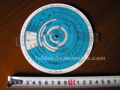 Regla de calculo circular nuclear bomb effects computer