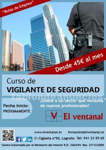 Curso de formación para aspirantes a vigilantes de seguridad