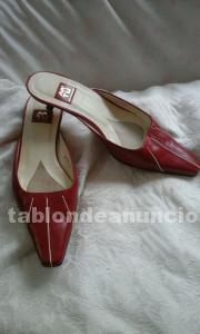 Zapatos señora mtu rojos