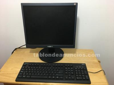 Monitor y teclado impecables.
