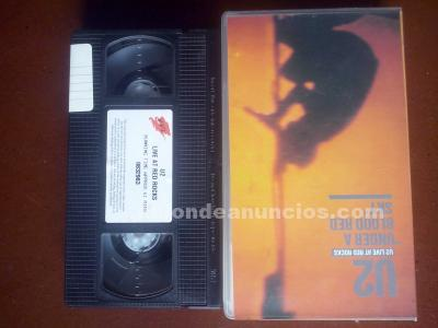 "U2 - live at red rocks, ""under a blood red sky"", vhs"