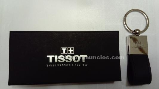 LLAVERO TISSOT CROMO Y PIEL
