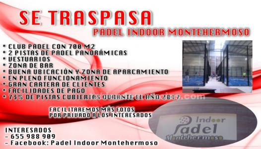 Se traspasa indoor de padel