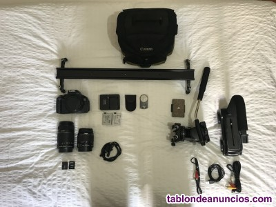 VENDO KIT CANON 600D SLIDER ESTABILIZADOR SD CARDS