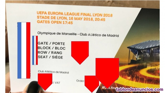 Entradas atletico-marsella europa league