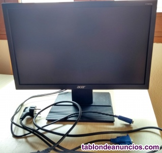 "Monitor - acer v6 serie, v196hql, hd, 18.5"", led, vga, 5ms, negro"