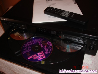 Compact disc player sdp – ce315 sony.