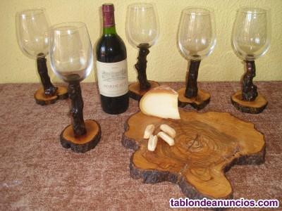 Se venden copas artesanas hechas a mano