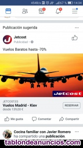 Vendo vuelos de avion