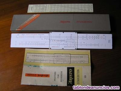 Calculadora aristo 939 hormigon armado regla de calculo system gÖttsch
