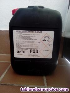 Envase de ácido clorhídrico de 20 litros