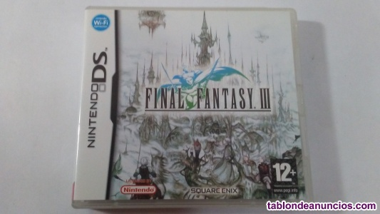 Final fantasy iii para nintendo ds