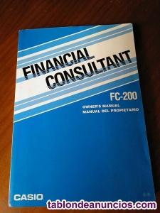 Manual del propietario de calculadora casio fc-200 financial consultant fc200 ca
