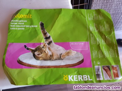 CAMA DE PARED OVAL PARA GATO DOLOMIT