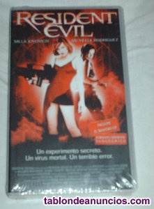 """Película """"Resident Evil"""" en VHS."""