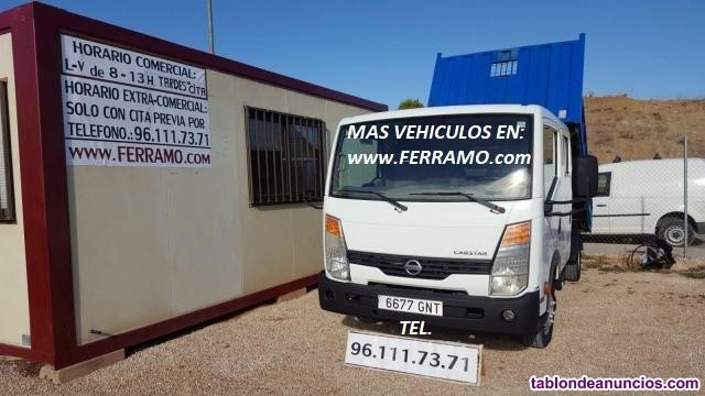 NISSAN CABSTAR, NISSAN CABSTAR VOLQUETE, BASCULANTE, DOBLE CABINA 6677GNT