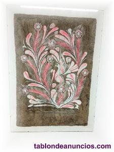 Vendo 3 cuadrois pintados en papiro