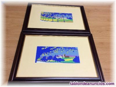 Vendo dos cuadros de paisajes