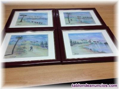 Vendo 4 cuadros de paisajes