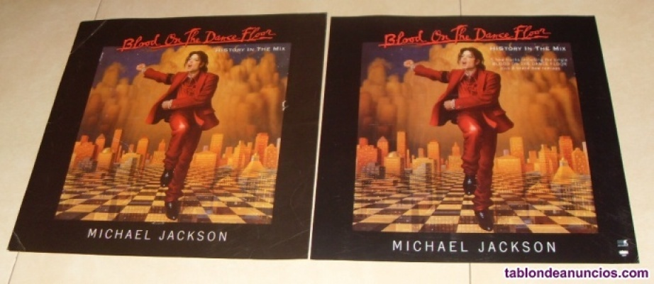 Carton y lamina promocionales blood on the dance floor michael jackson