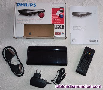 SINTONIZADOR DE TELEVISIÓN DIGITAL TERRESTRE PHILIPS TDT DTR220