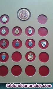 Coleccion de pins de los club deportivos de futbol españoles