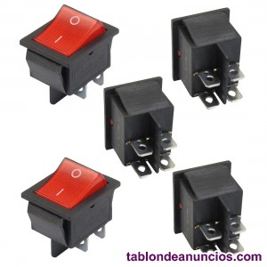 Interruptor balancin rojo luz switch