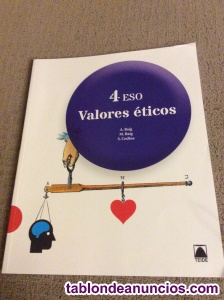Vendo libro valores éticos 4º eso editorial teide