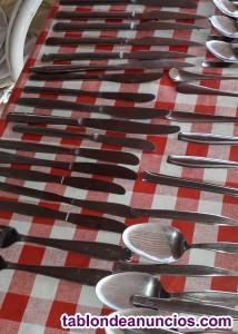 Juego de cubiertos tenedores cucharas. Cuchillos